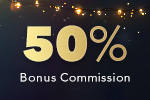 50% Bonus commission with AWE'
