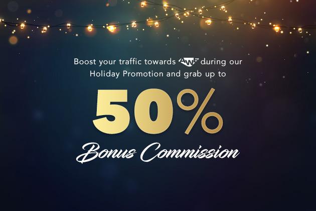 1 - 50% Bonus commission with AWE