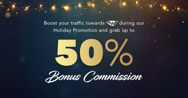 Push more Traffic to WIN 50% Bonus commission with AWE!