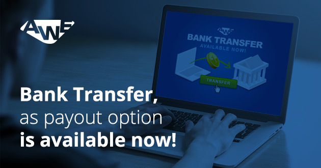 Get paid via bank transfer